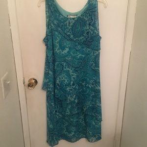 Vintage Blue Patterned Dress